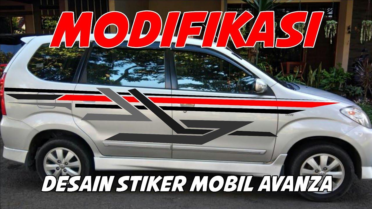 cutting sticker grand new avanza fitur veloz 2015 modifikasi mobil buat stiker youtube