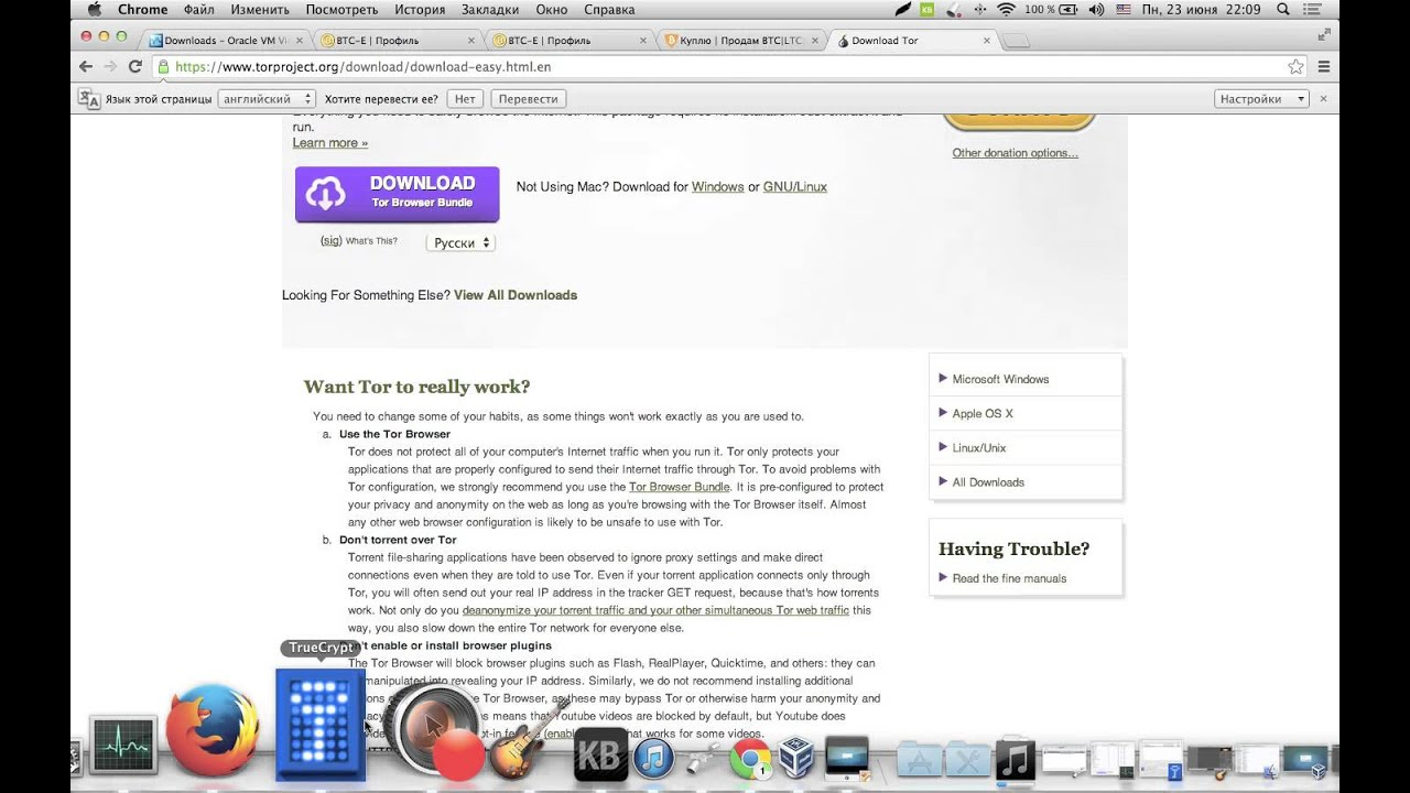 configure browser to use tor gydra