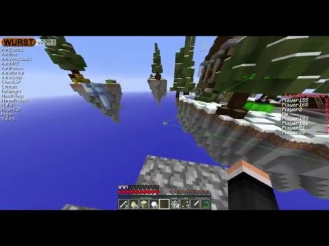 MINECRAFT FREE 100 ALTS LIST LINK 2016 WITH WURST HACK CLIENT