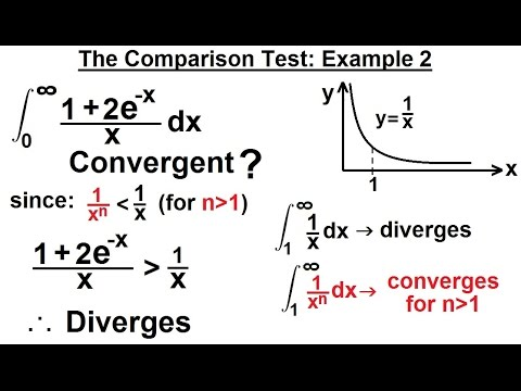 Calculus 2: Improper Integrals (13 of 16) Comparison Test