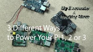 Raspberry Pi Power Options - 3 Ways to Power Your Pi or other SBC (MEHS) Episode 44