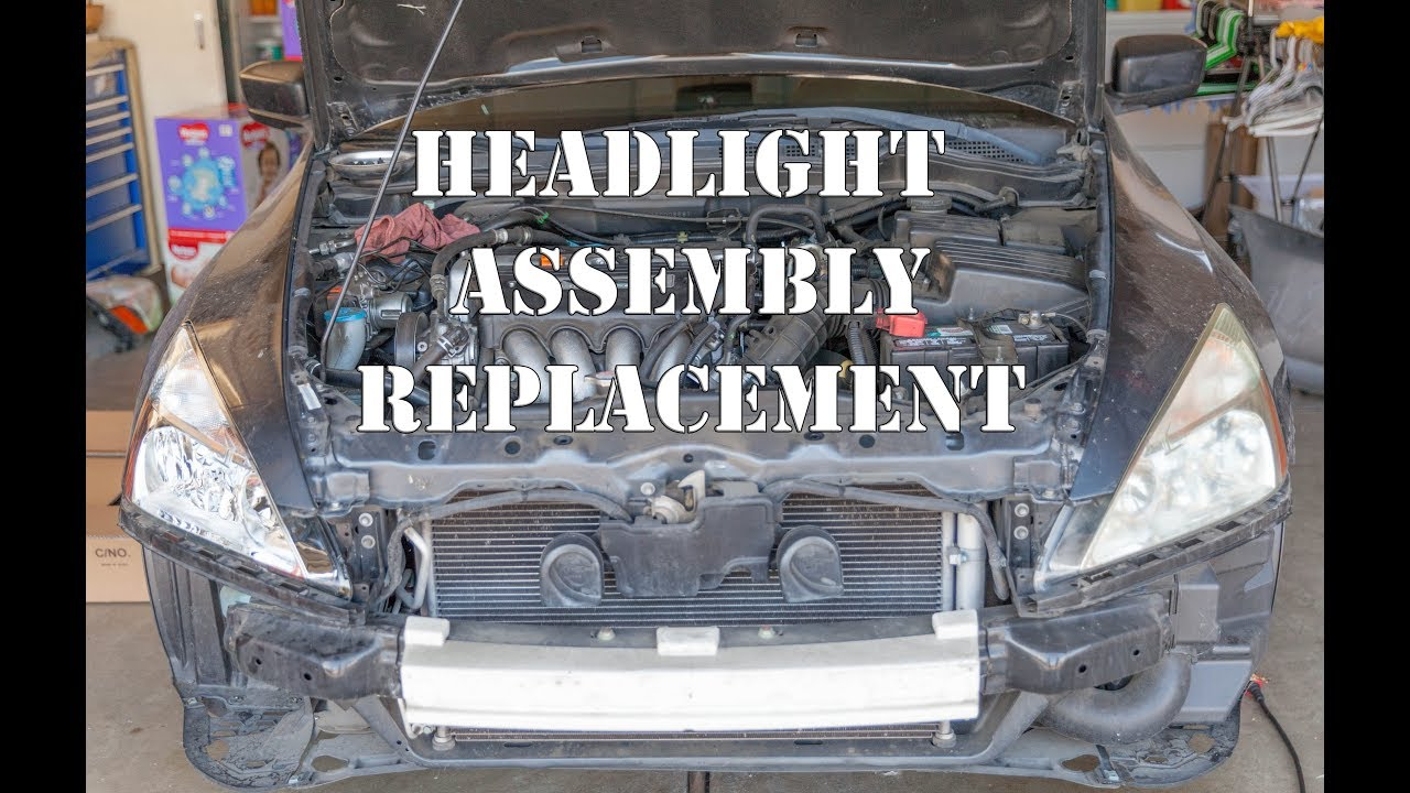 2003 2007 Honda Accord Headlight Embly Replacement