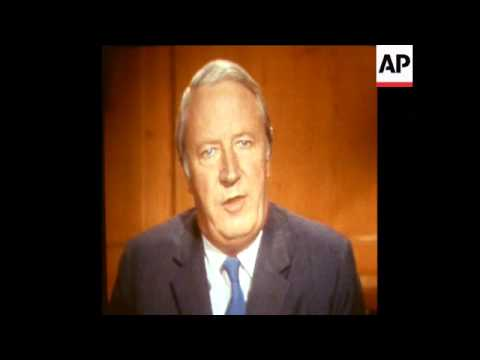 SYND 27/2/72 BRITISH PRIME MINISTER, EDWARD HEATH, TELEVISION BROADCAST