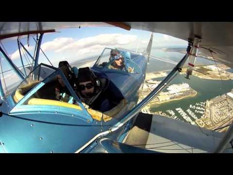 Beth & Kathryn Fly With Florida Biplanes