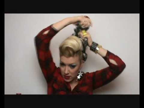Pinup Hair Tutorial In 5 Minuten Deutsch Youtube