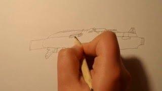 как нарисовать автомат калашникова(Как нарисовать автомат Калашникова., 2016-02-20T18:15:49.000Z)