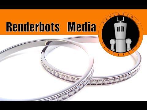 Renderbots Media: 3D Diamonds & rings : Created in Cinema 4D