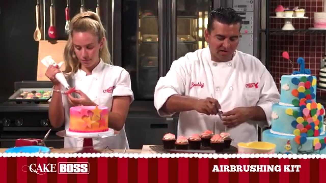 Cake Boss Airbrush Demo