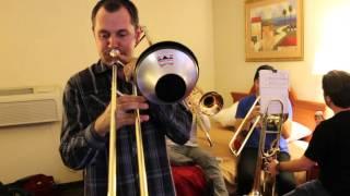Hotel Jams #5 Hannibal, MO: Eu Sei Que Vou Te Amar - Maniacal 4 Trombone Quartet