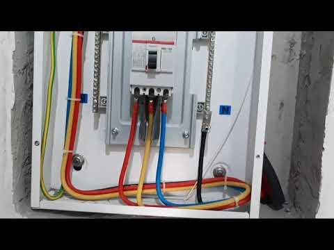 3 phase DB main power cable termination //in ksa Electrical