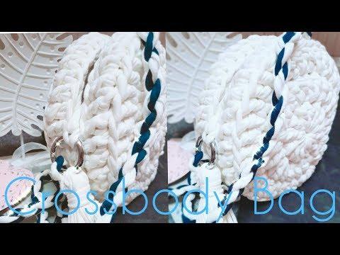 Crossbody Bag Crochet Tasche Häkeln Quaste Basteln
