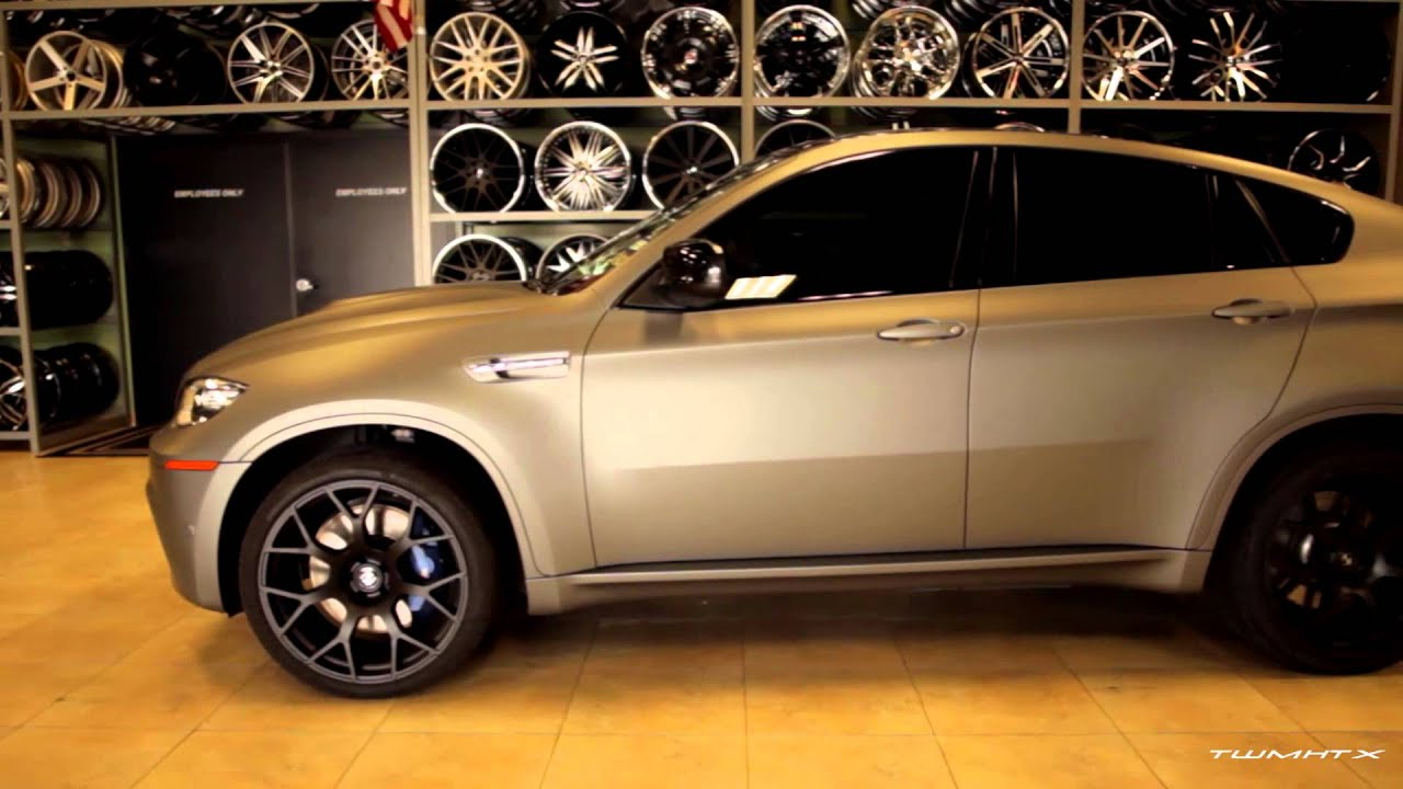 Bmw X6 With Matte Gray Vehicle Wrap Youtube