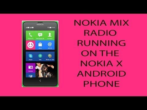 Nokia Mix Radio running on the Nokia X Family (MWC