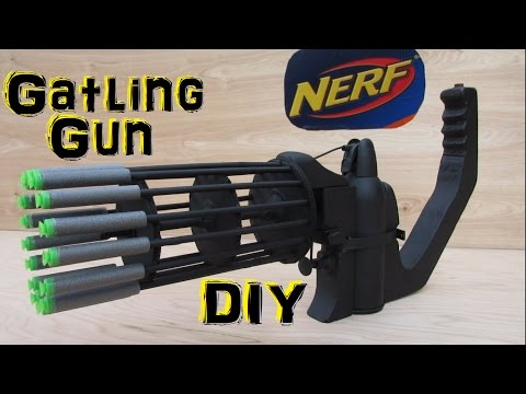 Homemade Nerf Gatling Gun (Fully Automatic!) DIY