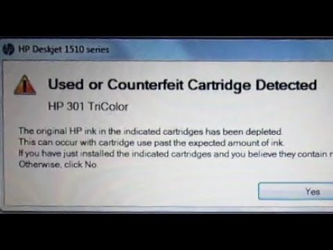 Bypass COUNTERFEIT Printer Cartridge Error Box | Avoid HP Print Cartridge  Ink Scam