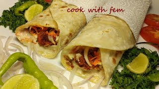 Chicken Tandoori Roll/Chicken Shawarma - Try This Amazing Roll Filled With Tandoori Chicken - Enjoy