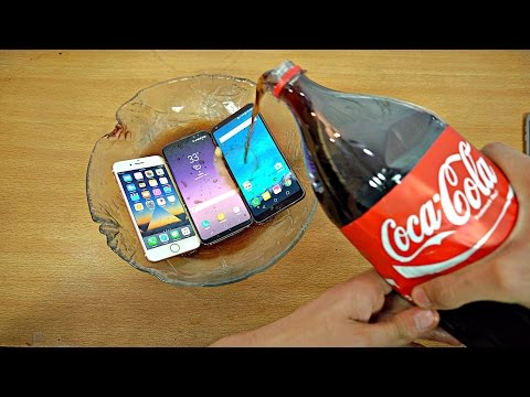 Thumbnail: Samsung Galaxy S8 vs iPhone 7 vs LG G6 Coca-Cola Test! Coca-Cola Proof?