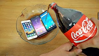 Samsung Galaxy S8 vs iPhone 7 vs LG G6 Coca-Cola Test! Coca-Cola Proof?