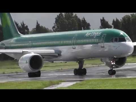 Aer Lingus Boeing 757-208 Takeoff at Shannon