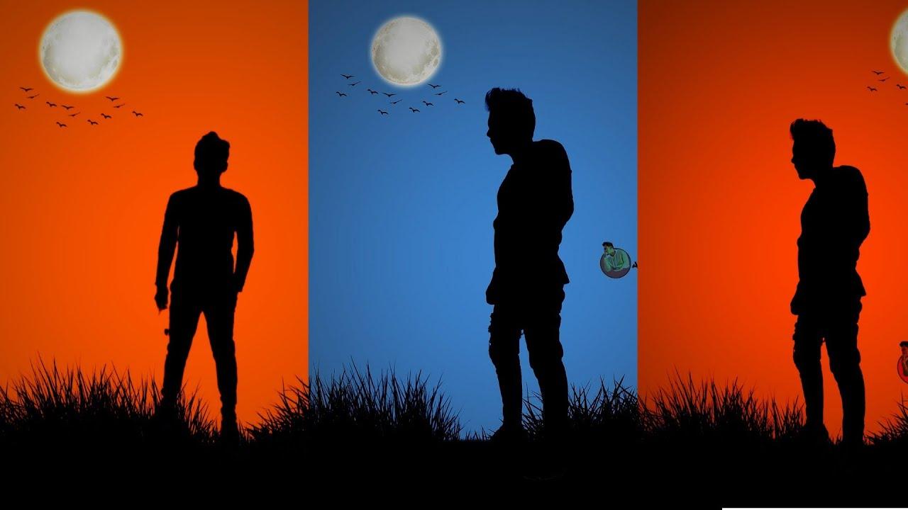 PicsArt Blue Shadow Photo Editing | Dark Shadow Photo Editing | Simple editing | Amit Editz