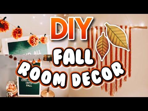 DIY FALL ROOM DECOR! | Easy and cheap decor ideas! Fall 2018!