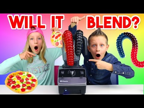Thumbnail: Giant Gummy Worm - Will it blend?