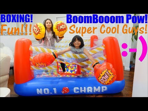 Toy Channel: Kids' Inflatable Bouncer Playtime Fun! Inflatable Boxing Ring and Boxing Gloves