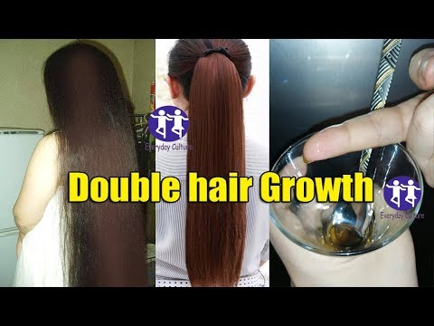 Double hair Growth in 7 days , stop hair fall , long hair , thick hair , shiny hair