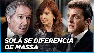 """""""No coincido con Massa en dejar afuera a Cristina"""" Felipe Solá marca diferencias con Massa"""