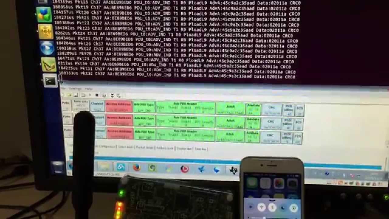 HACKRF SDR BTLE (Bluetooth Low Energy) scanner sniffer by Jiao Xianjun