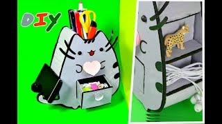 DIY.Органайзер для рабочего стола.Декор стола. Органайзер своими руками.Идеи из картона/Hand made.