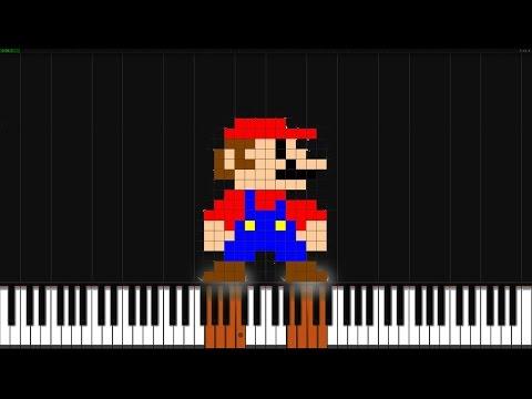 Super Mario Bros. Theme [Piano Tutorial] (Synthesia) // Akmigone
