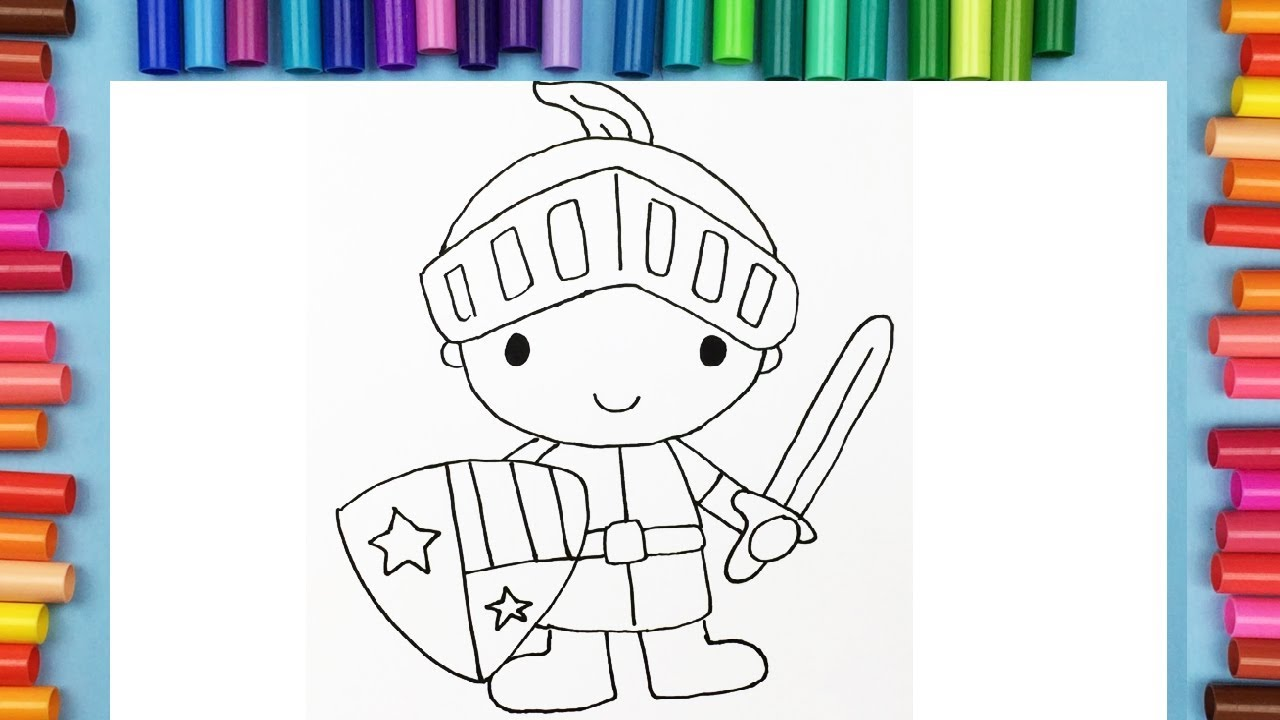 How To Draw A Knight Coloring Pages For Kids Coloring With