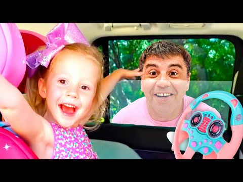 Nastya và bố mua một chiếc ô tô mới, Đồ chơi cho trẻ em   Foci