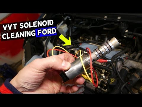 HOW TO CLEAN VVT SOLENOID FORD F150 F250 EDGE FLEX TAURUS FUSION EXPLORER