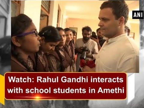 Watch: Rahul Gandhi interacts with school students in Amethi - Uttar Pradesh News