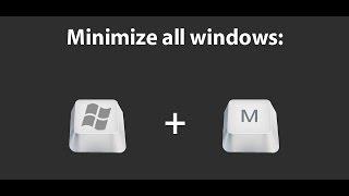 Как свернуть все окна в Windows 8
