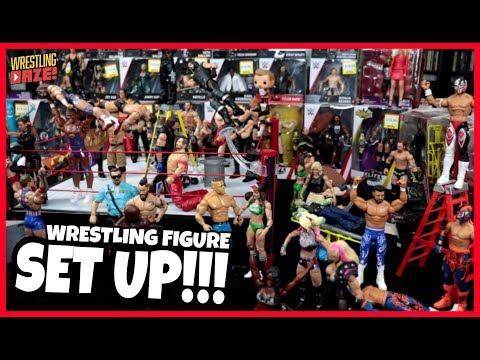😂 Funny WWE Mattel Wrestling Figure SET UP!!! June 2018