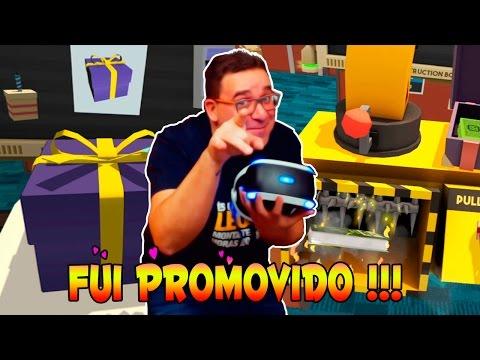 FUI PROMOVIDO NO ESCRITÓDIO   JOB SIMULATOR PLAYSTATION VR PSVR
