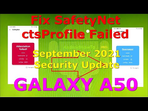 How to Fix Magisk SafetyNet CTS Profile Failed on Galaxy A50 - September 2021 Security Update