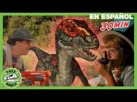 Parque De T-Rex | T-Rex Enorme Y Dinosaurios Con Ranger Aaron Y Otros