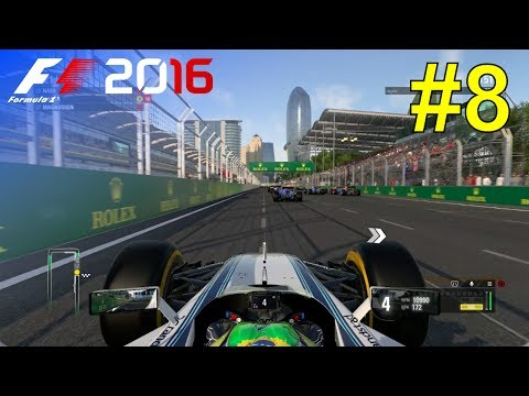 F1 2016 - Let's Make Massa World Champion #8 - 100% Race 'Baku'