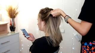Вечерняя прическа на средние волосы СПб