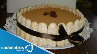 Pastel  de Tiramisú / Pastel con galletas y café / Receta pastel