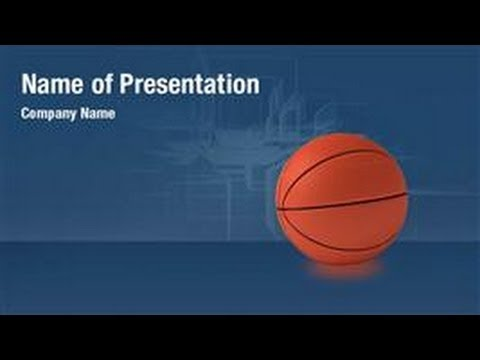 Basketball Theme Powerpoint Video Template Backgrounds