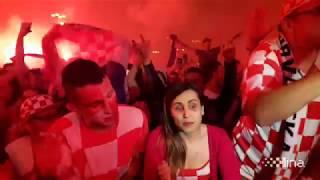 Navijači u Zagrebu tokom polufinala Hrvatska - Engleska