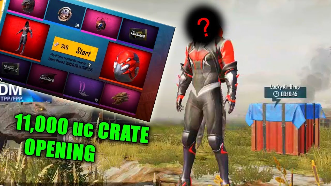 So i got the SPIDERMAN set in Pubg Mobile with 11,000 UC crate opening ! | Pubg Mobile Asia