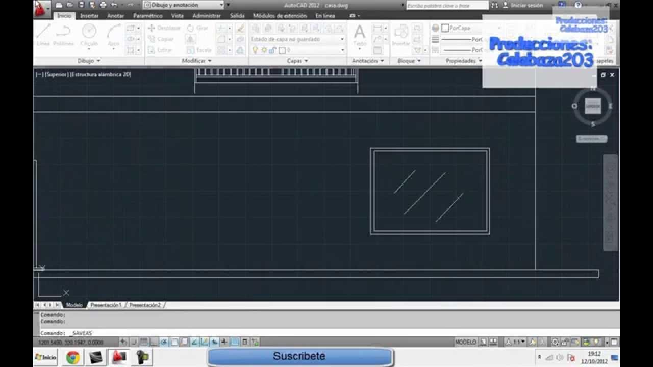 Construyendo una fachada de edificio con Autocad 2012  YouTube