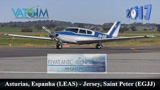 TSZ101 LEAS (Asturias) - EGJJ (Jersey) with PA24 A2A | Coming to America #2 | Flight Simulator 2017