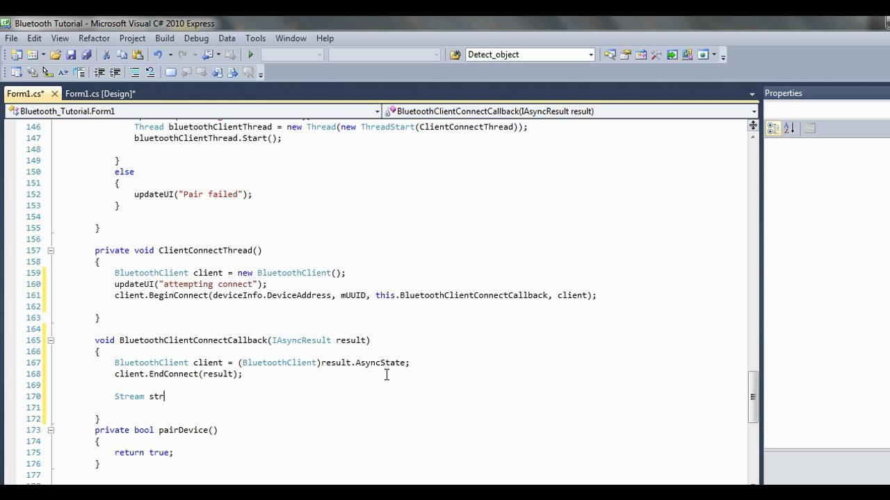 C# bluetooth tutorial 6